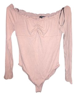 Forever 21 Bodysuit Nude Pink Top light pink/nude
