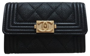 Chanel NWT Chanel Black Boy Card Holder