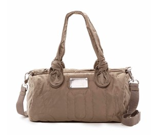 Marc by Marc Jacobs Nylon Max Tate Barrel Satchel in Quartz Grey (Taupe)