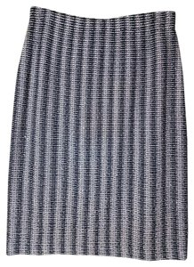 St. John Collection Santana Knit Skirt Navy