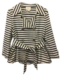 Kate Spade Double Breasted Spring Bow On Trend navy stripe Jacket