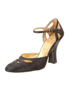 Miu Miu Mary Jane Slingback 8.5 Black Pumps