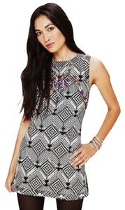 Free People short dress Black, White, Gray, Blue, Red on Tradesy