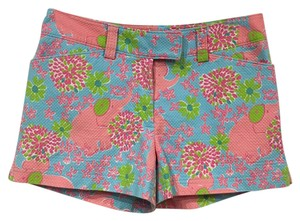 Lilly Pulitzer Mini/Short Shorts Blue, Pink, Green, White