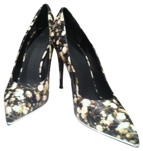 Givenchy Black Flower Multicolor Pumps