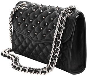 Rebecca Minkoff Quilted Studded Minkoff Leather Crossbody Shoulder Bag
