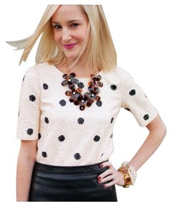 J.Crew Top black white