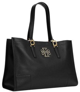 Tory Burch Dust Pebbled Tote in Black