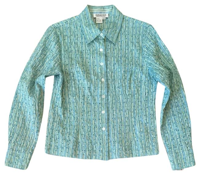 Preload https://item1.tradesy.com/images/due-per-due-turquoise-multi-button-down-top-size-petite-10-m-2045620-0-0.jpg?width=400&height=650