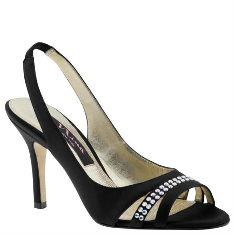 shoes black silver formal size 8 5 46