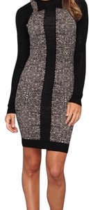 Nicole Miller short dress Black and Tan on Tradesy