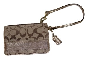 Coach Wristlet in Light Gold