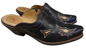 Ariat Leather Western Cowboy brown Mules