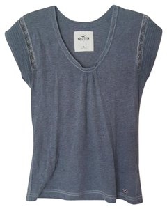 Hollister Casual T Shirt Gray