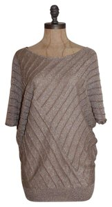 Matty M Sparkle Dolman Top TAUPE