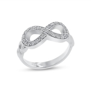 Other 0.40 Ct. Natural Diamond Infinity Promise Ring in Solid 14k White Gold