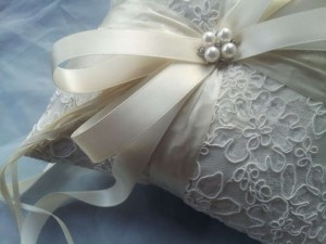 Ivory Lace Ring Bearer Pillow