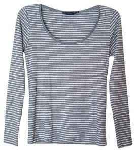 Ralph Lauren Striped Sport T Shirt Gray, White