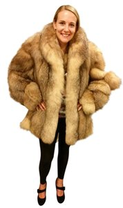 Crystal Fox Jacket Fur Coat