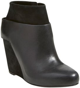 Vince Bootie Leather Wedge Black Boots