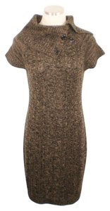 Calvin Klein short dress Brown Cable Knit Cap Sleeve on Tradesy