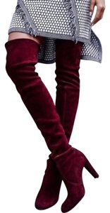 Other Wine Suede Boots
