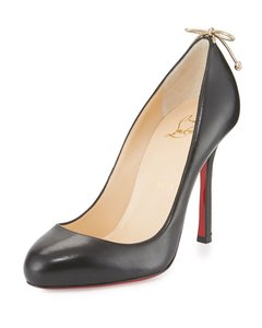 Christian Louboutin Heels Stiletto Bow Gemma Louboutin Black Pumps