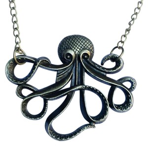 Anthropologie Bronze Octopus Necklace