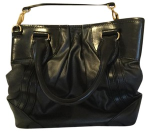 Burberry Black Leather Tote Cross Body Bag