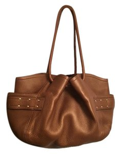 Cole Haan Leather Cinched Tote in Bronze/Gold
