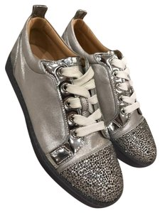 Christian Louboutin Gondolastrass Crystal Trainer silver Athletic