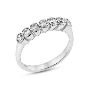 0.50 Ct. Super Fine Quality Diamond Wedding Band Ring Solid 18k White