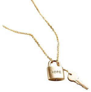 Nordstrom Nordstrom The Giving Keys Gold Hope Lariat Key Lock Necklace