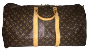 Louis Vuitton Bandeau Keepall 55 Monogram Travel Weekend Shoulder Bag