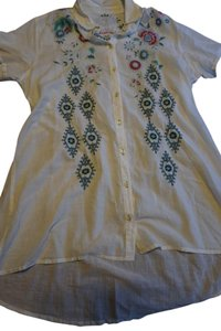Johnny Was 3j Embroidered Tunic