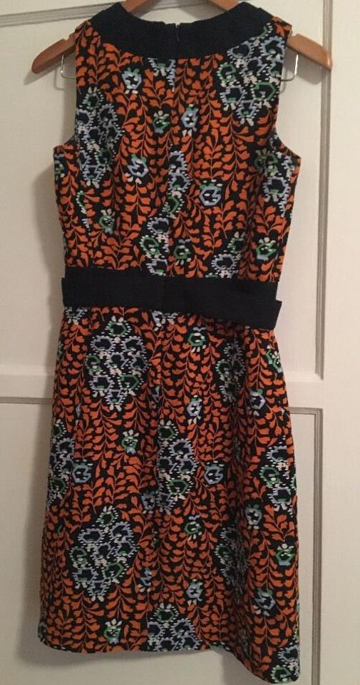 847aac77d04 Tory Burch Blue Floral Printed Linen Knee Length Cocktail Dress Size ...