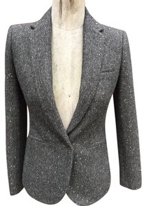 J.Crew Sequin Campbell Donegal Wool gray sequin Blazer