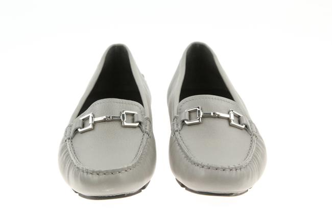Item - Gray Horsebit Leather Silver Driving 371390 Moccasin Loafers Flats Size EU 40 (Approx. US 10) Regular (M, B)