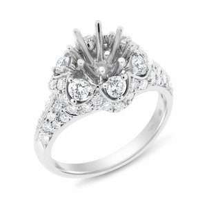 Other 1.06 Ct. Natural Diamond Semi Mount Setting Regal Ring 18k Gold 8