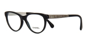 Chanel NEW Chanel CH 3333 Black Cat Eye Tweed Eyeglasses Frames