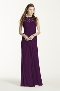 David's Bridal Plum F15749 Dress