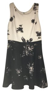 Xhilaration Floral Chic Monochrome Dress