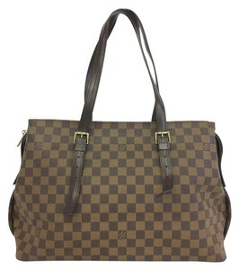 Louis Vuitton Lv Chelsea Canvas Brown Shoulder Bag