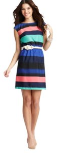 Ann Taylor LOFT short dress Multi Striped on Tradesy