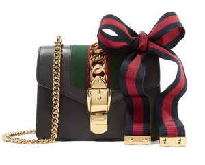 Gucci New Mini Sylvie Chain Leather Shoulder Bag