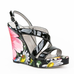 Valentino Black, multi Wedges