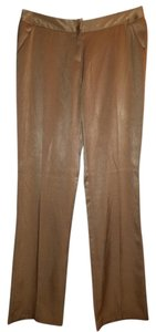 Alain Manoukian French Designer Career Office Professional Style Silk Nordstrom Boot Cut Pants Biege