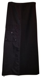 Alain Manoukian Maxi Long Hipster Goth Rockabilly 90s Millenium Party Skirt Black