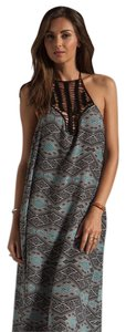 Thai Print Maxi Dress by Acacia swimwear Maxi Positano Crochet Silk