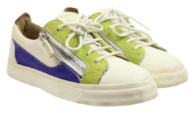 Item - White Purple Green Multi-color Low Top 35.5 Gzsty07 Athl Sneakers Size US 5.5 Regular (M, B)